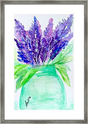 Lilacs Mason Jar  Framed Print by Gail Nandlal
