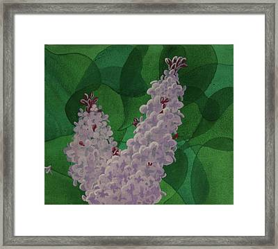 Framed Print featuring the painting Lilacs by Paul Amaranto