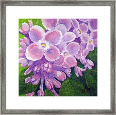 Lilacs Framed Print by Sharon Marcella Marston