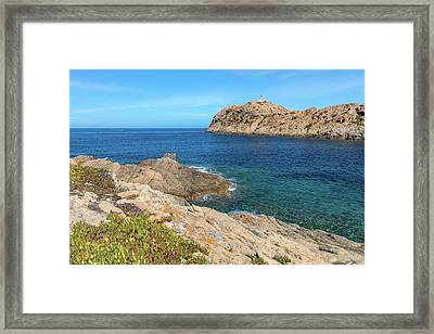 L'ile Rousse In Corsica Framed Print