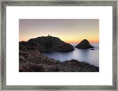 L'ile Rousse On Corsica Framed Print