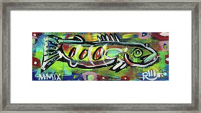Lil'funky Folk Fish Number Eighteen Framed Print by Robert Wolverton Jr