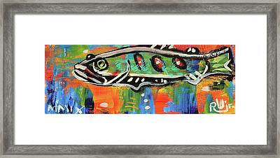 Lil'funky Folk Fish Number Fifteen Framed Print by Robert Wolverton Jr