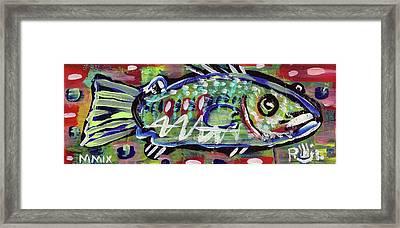 Lil'funky Folk Fish Number Fourteen Framed Print