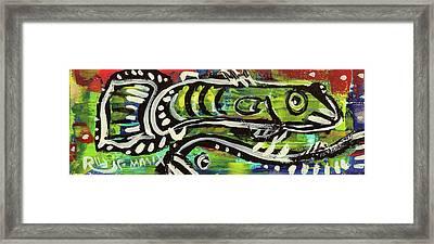 Lil'funky Folk Fish Number Sixteen Framed Print