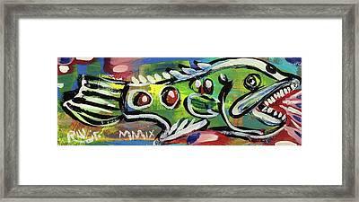Lil'funky Folk Fish Number Thirteen Framed Print by Robert Wolverton Jr