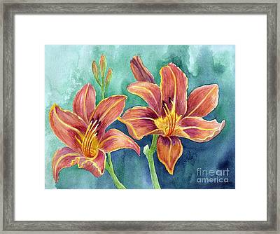 Framed Print featuring the painting Lilies by Eleonora Perlic