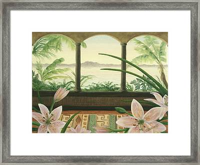 Lilies In Paradise Framed Print