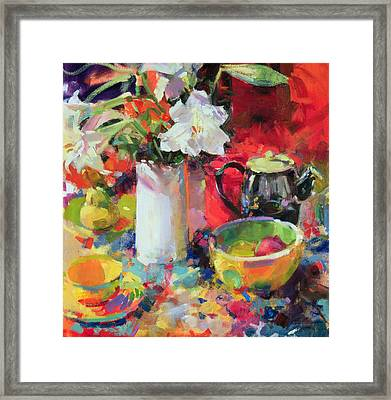 Lilies In Summer Framed Print