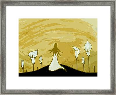 Lilies Of The Field 2 Framed Print by Angelina Vick
