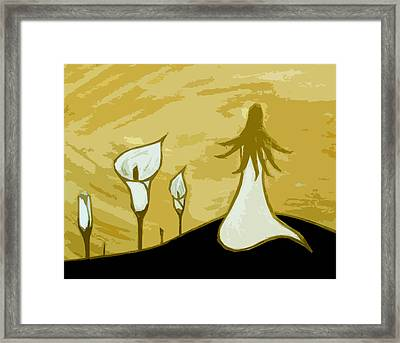 Lilies Of The Field 3 Framed Print by Angelina Vick