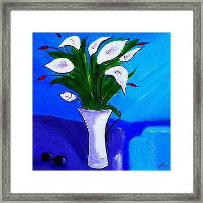 Lilies On My Table Framed Print