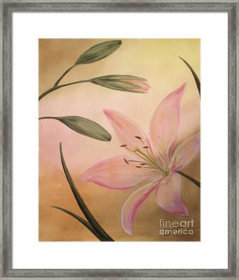 Lilies Part 2 Framed Print by Cathy Cleveland