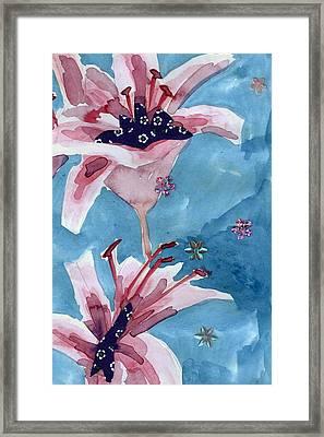 Lilies Portrait Framed Print by Geckojoy Gecko Books