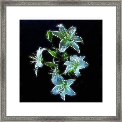 Lilies Framed Print by Sandy Keeton