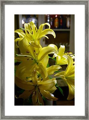 Lilies Framed Print by Siobhan Yost