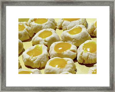 Thumbprint Shortbread Cookies With Lilikoi Butter Framed Print