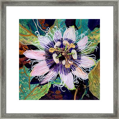 Framed Print featuring the painting Lilikoi by Marionette Taboniar