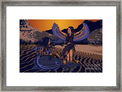Framed Print featuring the digital art Lilith And Musical Medusa by Laura Brightwood