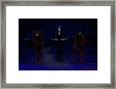 Lilith, Embraced By Night Framed Print by John Paul Blanchette