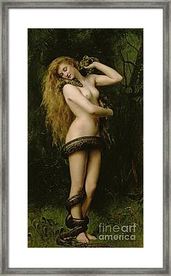 Lilith Framed Print by John Collier