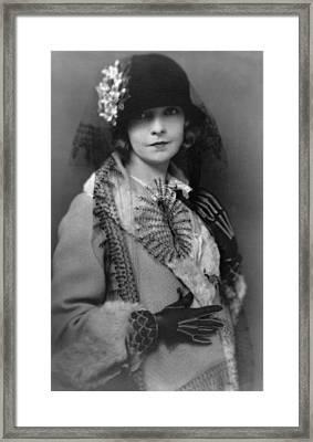 Lillian Gish 1893-1993, Silent Film Framed Print by Everett