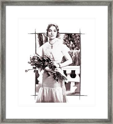 Lillian Gish Framed Print by Greg Joens