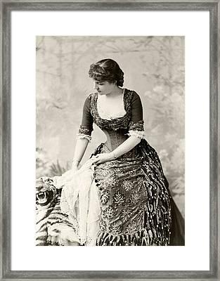 Lillie Langtry 1853 To 1929 Born Emilie Framed Print