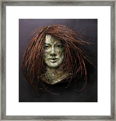 Lilly A Relief Sculpture By Adam Long Framed Print