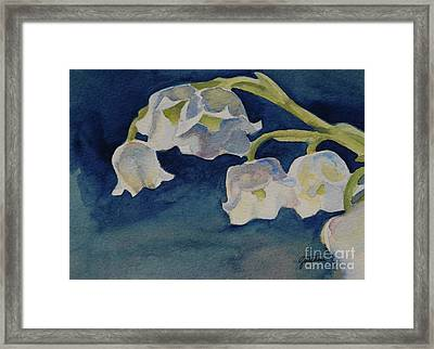 Lilly Of The Valley Framed Print by Gretchen Bjornson