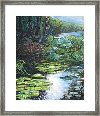 Lilly Pads Framed Print by Gary Symington