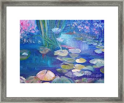 Lillypads Framed Print by Judy Groves
