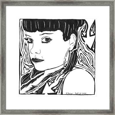 Lily Allen Maze Framed Print by Yonatan Frimer Maze Artist