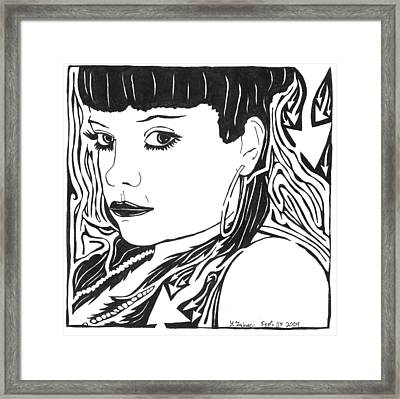 Lily Allen Maze Framed Print