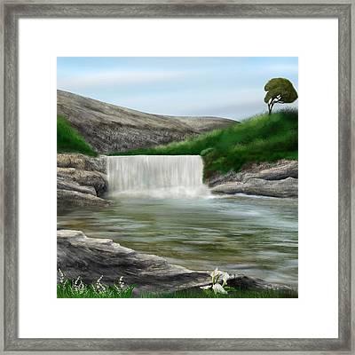 Lily Creek Framed Print
