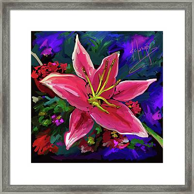 Framed Print featuring the painting Lily by DC Langer