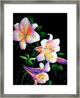 Lily Fiesta Framed Print by Hanne Lore Koehler