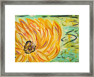 Lily Float Framed Print by Mary Carol Williams