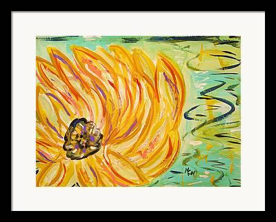 Nature Center Pond Drawings Framed Prints