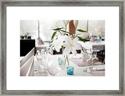 Lily Flowers Bridal Decoration Framed Print