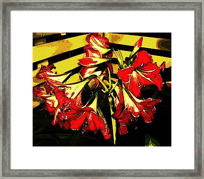 Framed Print featuring the digital art Lily Gem by Winsome Gunning