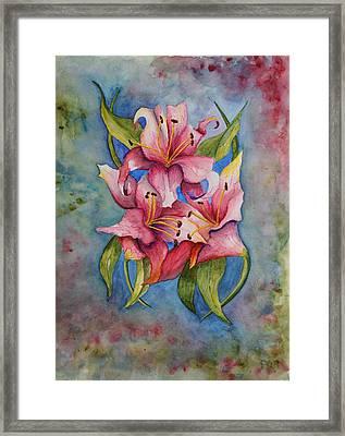 Lily II Framed Print by Linda Brody