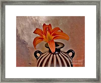Lily In A Peruvian Vase Framed Print