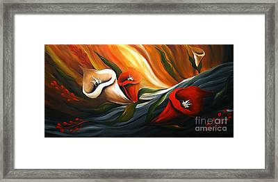 Lily In Flow Framed Print by Uma Devi