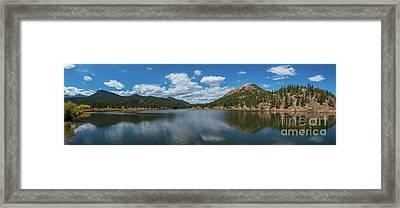 Lily Lake Panorama  Framed Print