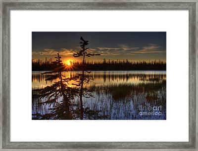 Lily Lake Sunset 2 Framed Print