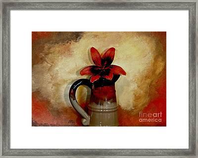 Lily Lovely Framed Print by Marsha Heiken