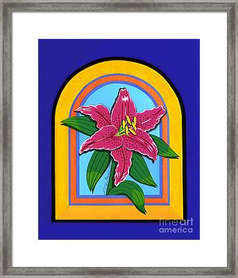 Lily Framed Print by Lucyna A M Green