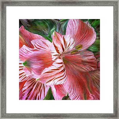 Lily Moods - Red Framed Print