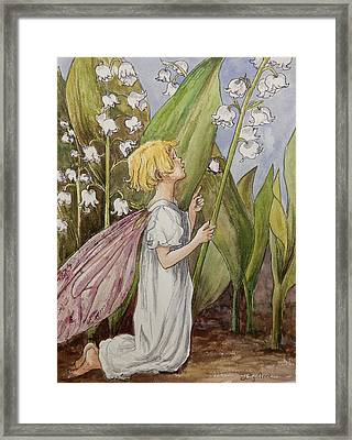 Lily Of The Valley Fairy After Cicely Mary Barker Framed Print
